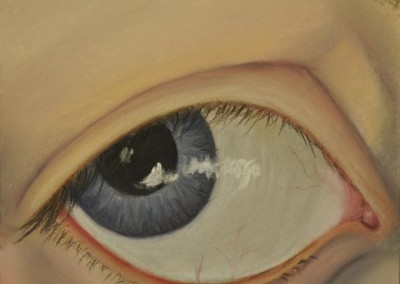 11. Sarah Anne Burns. Look Away. 2010, Pastel on Board. 5 in x 7 in.