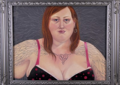 14. Sarah Anne Burns. Wings. 2011. Pastel on Board. 30 in X 20 in.