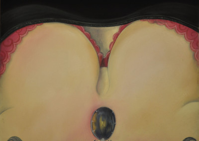 16.Sarah Anne Burns. Pink Shelf. 2010. Pastel on Board, 14 in x 11 in.