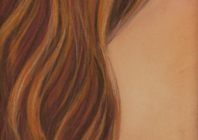 8. Sarah Anne Burns. Hair. 2011. Pastel on Board. 5 in x 7 in.