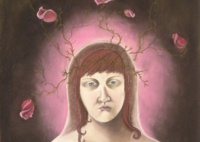 burns, sarah. bride. pastel on paper. 30in w. x 44in h. 2007.