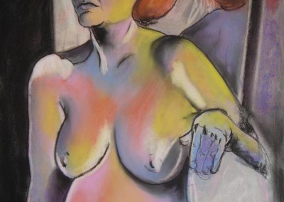 burns, sarah. pastel woman. pastel on paper. 22in w. x 30in. h. 4-2-2007.